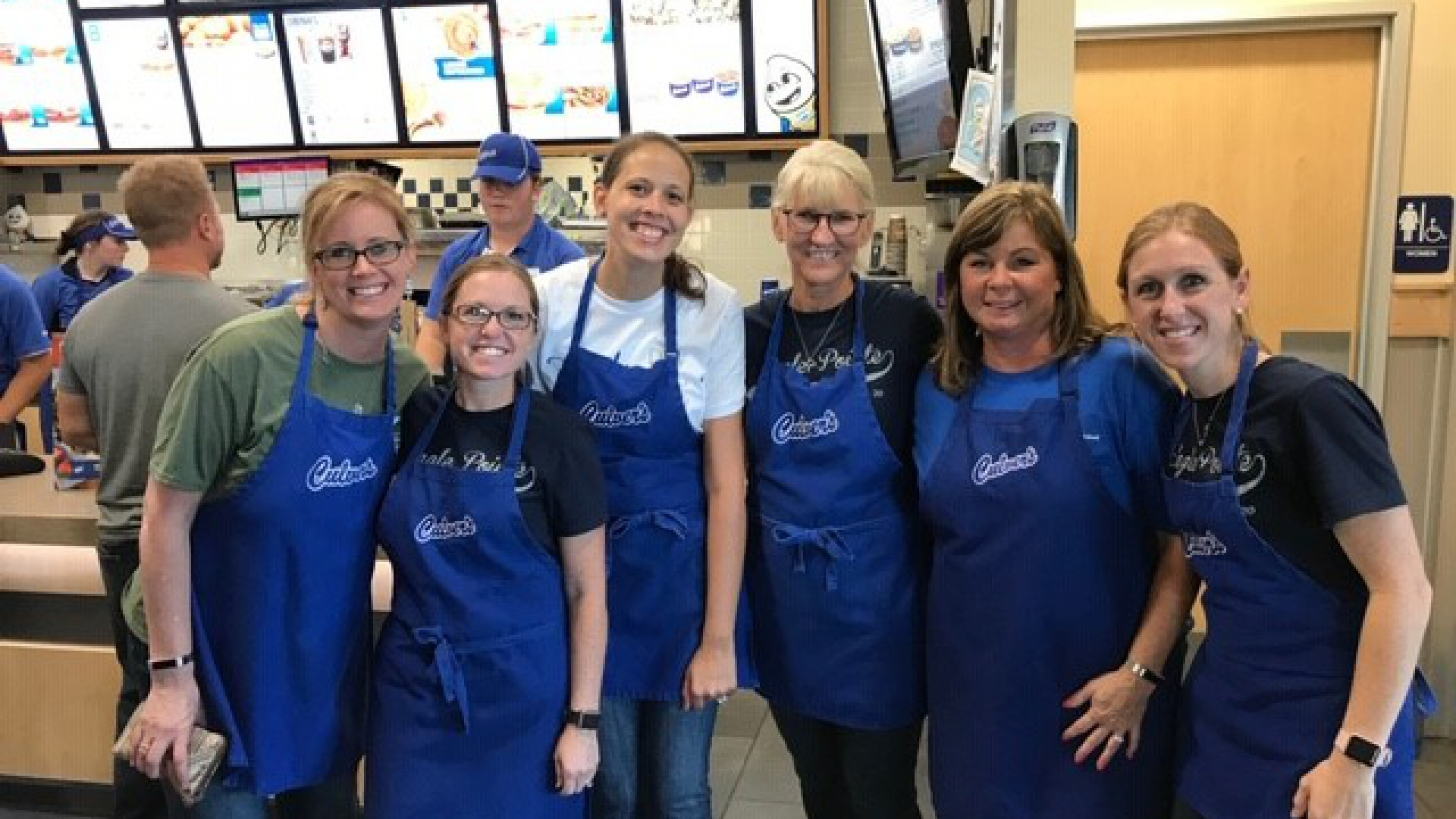Teachers serving at Culvers